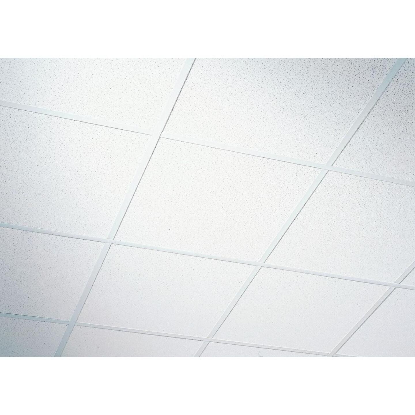 Radar Fissured 2 Ft. x 2 Ft. White Mineral Fiber Shadowline Tapered Suspended Ceiling Tile (16-Count) Image 1