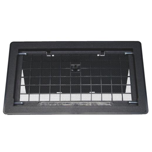 Witten 8 In. x 16 In. Black Manual Foundation Vent with Damper