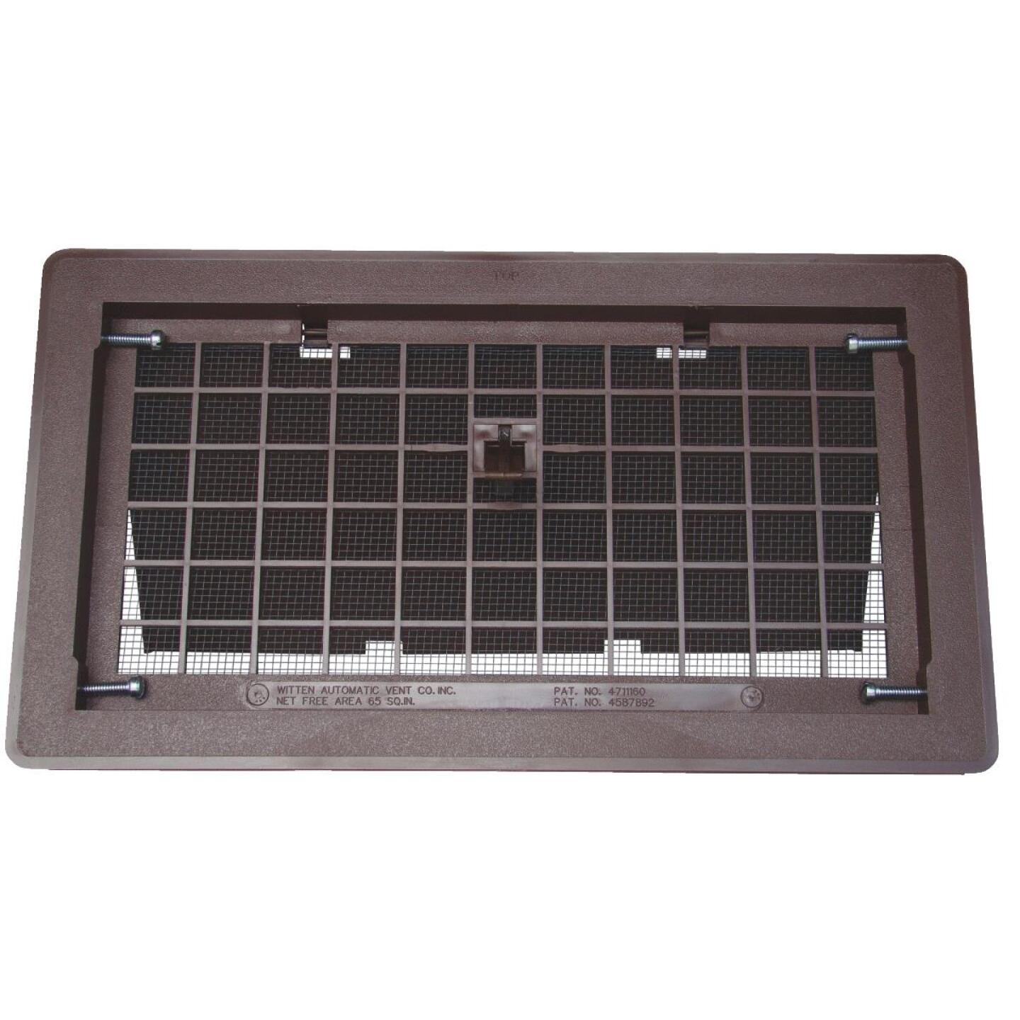 Witten 8 In. x 16 In. Brown Manual Foundation Vent with Damper Image 1