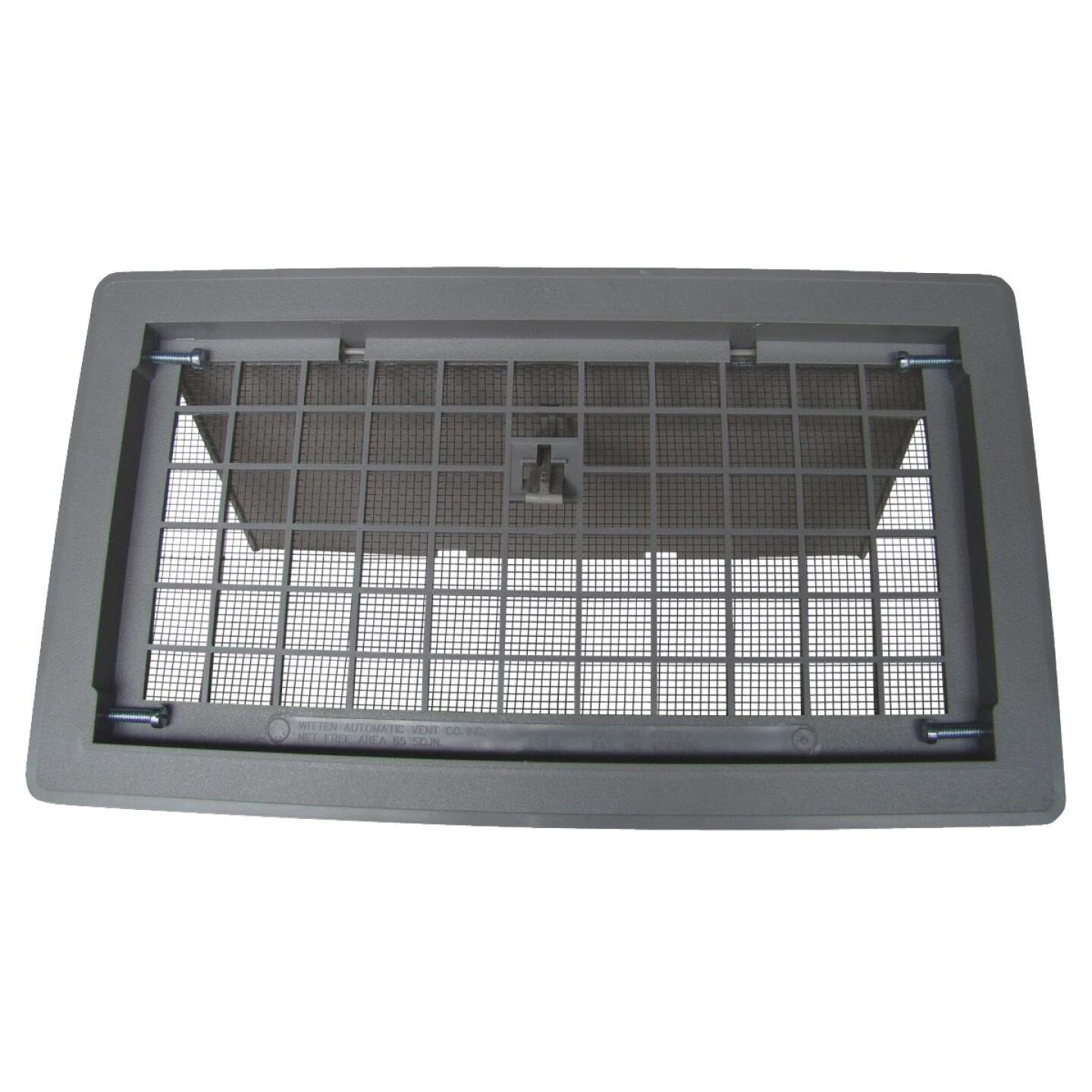Witten 8 In. x 16 In. Gray Manual Foundation Vent with Damper Image 1