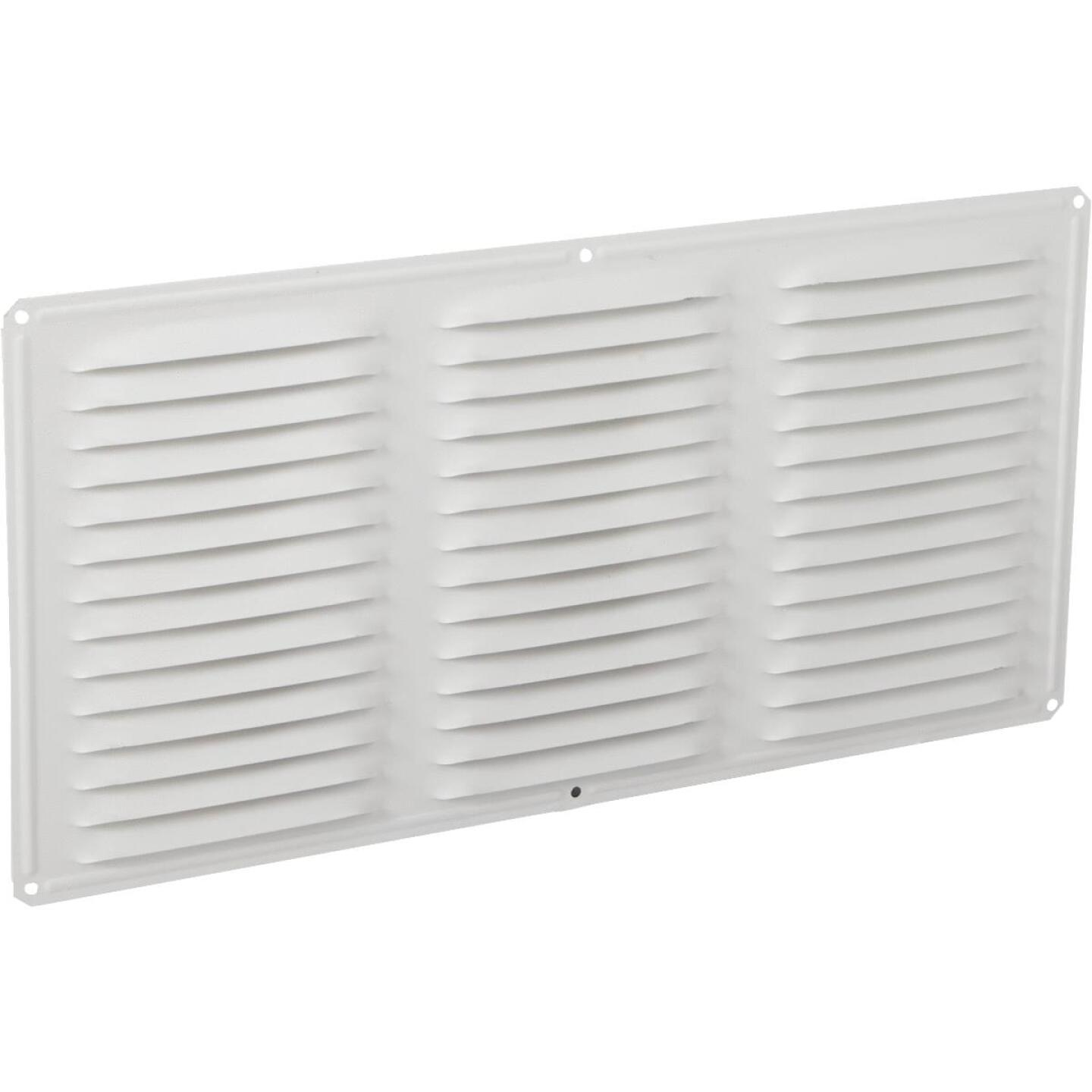 Air Vent 16 In. x 8 In. White Aluminum Under Eave Vent Image 1