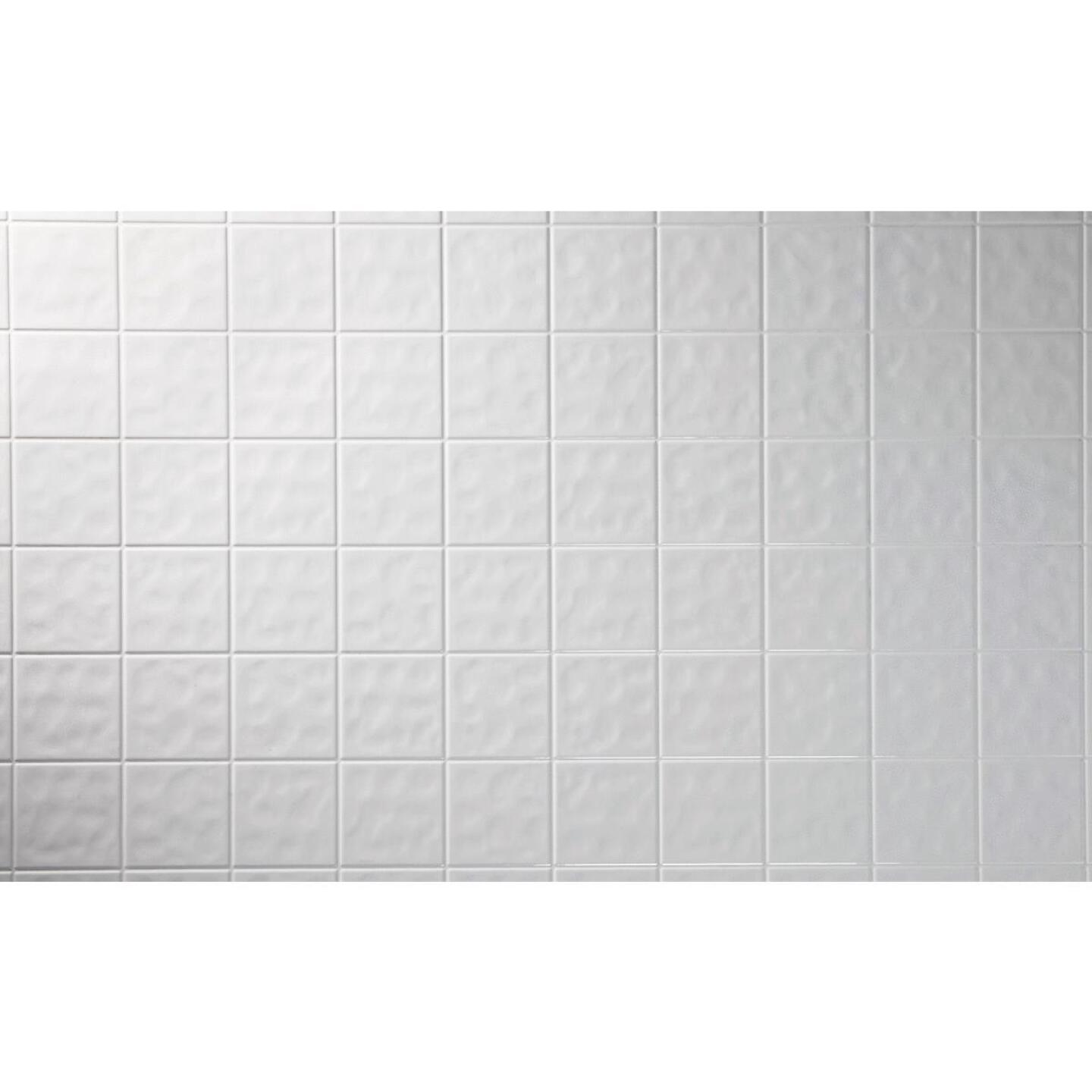 DPI AquaTile 4 Ft. x 8 Ft. x 1/8 In. White Tileboard Wall Tile Image 2