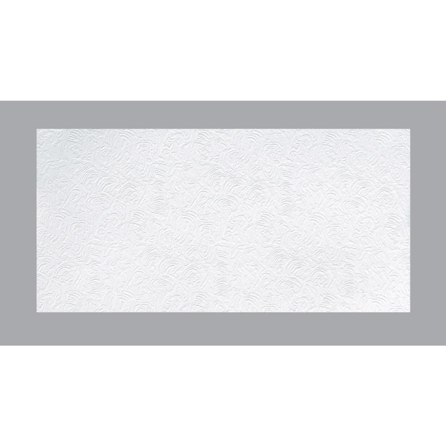 BP LifeStyle Caravelle 2 Ft. x 4 Ft. White Wood Fiber Suspended Ceiling Tile (8-Count) Image 1
