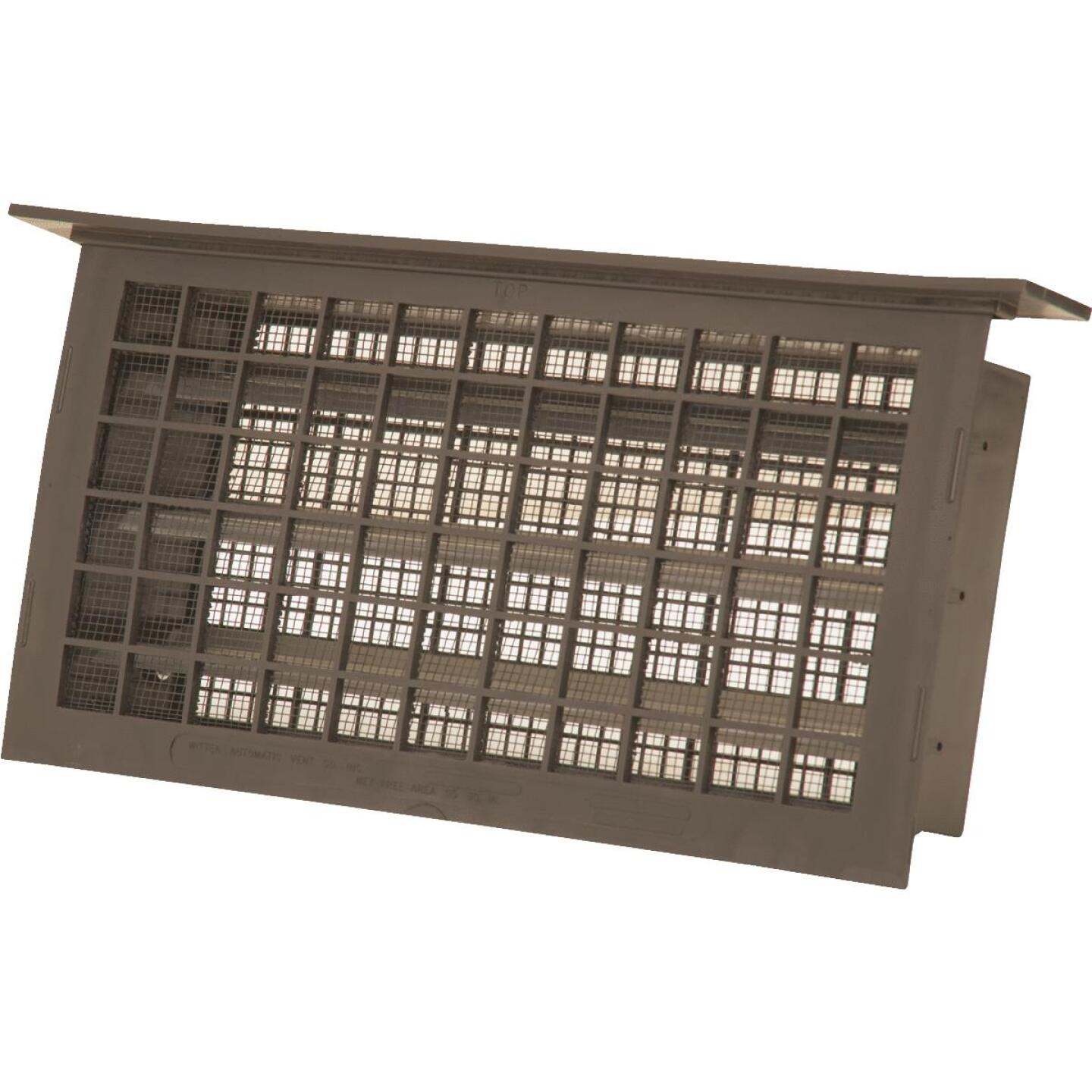 Witten 8 In. x 16 In. Brown Automatic Foundation Ventilator with Lentil Image 1