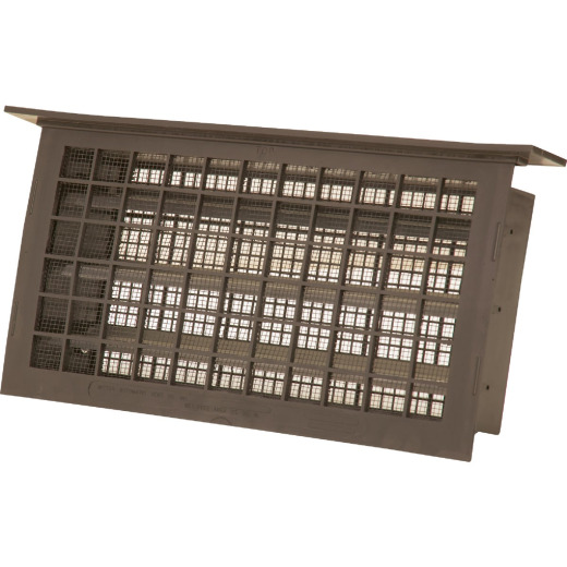 Witten 8 In. x 16 In. Brown Automatic Foundation Ventilator with Lintel
