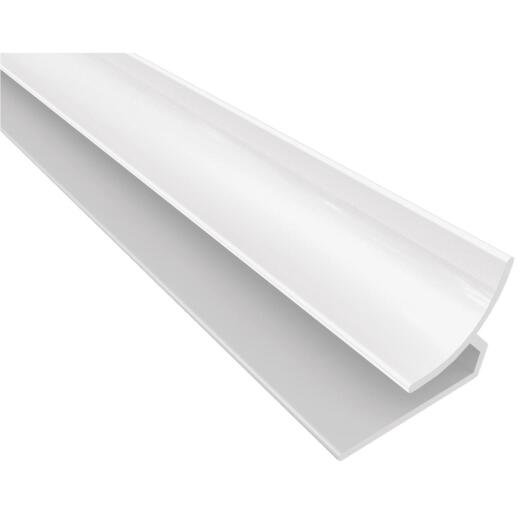ACP Bath & Kitchen 1/8 In. x 8 Ft. White PVC Inside Corner Wall Paneling Molding
