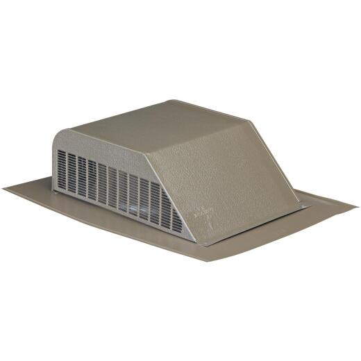 Airhawk 50 In. Weatherwood Galvanized Steel Slant Back Roof Vent