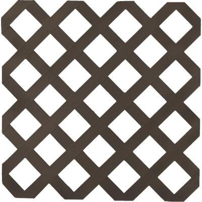 Dimensions 4 Ft. W x 8 Ft. L x 1/8 In. Thick Dark Brown Vinyl Lattice Panel