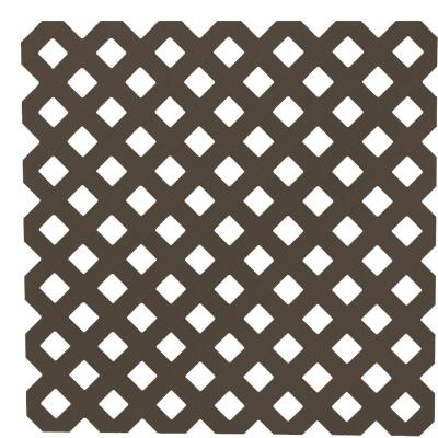 Dimensions 4 Ft. W x 8 Ft. L x 3/16 In. Thick Dark Brown Vinyl Privacy Lattice Panel