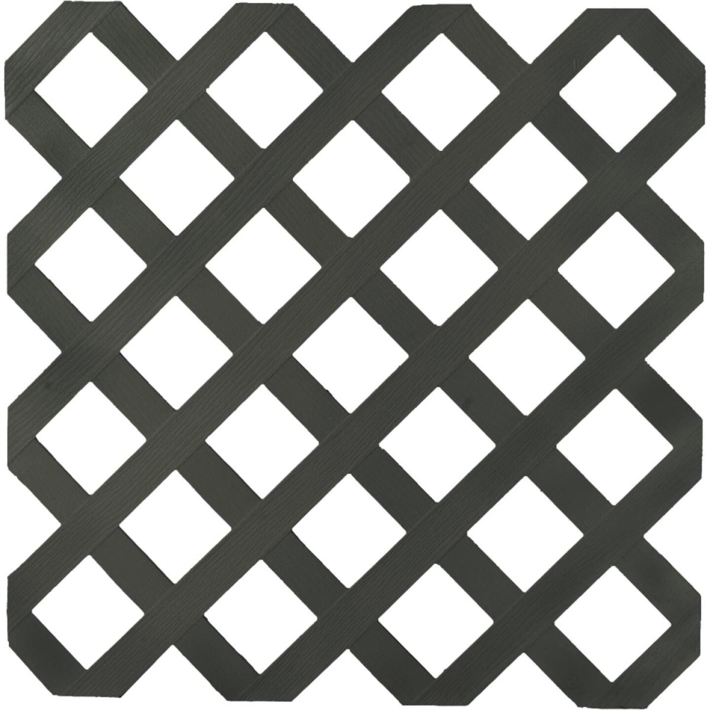 Dimensions 4 Ft. W x 8 Ft. L x 1/8 In. Thick Black Vinyl Lattice Panel Image 1