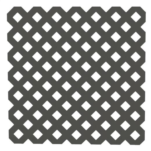 Dimensions 4 Ft. W x 8 Ft. L x 3/16 In. Thick Black Vinyl Privacy Lattice Panel
