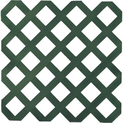 Dimensions 4 Ft. W x 8 Ft. L x 1/8 In. Thick Dark Green Vinyl Lattice Panel