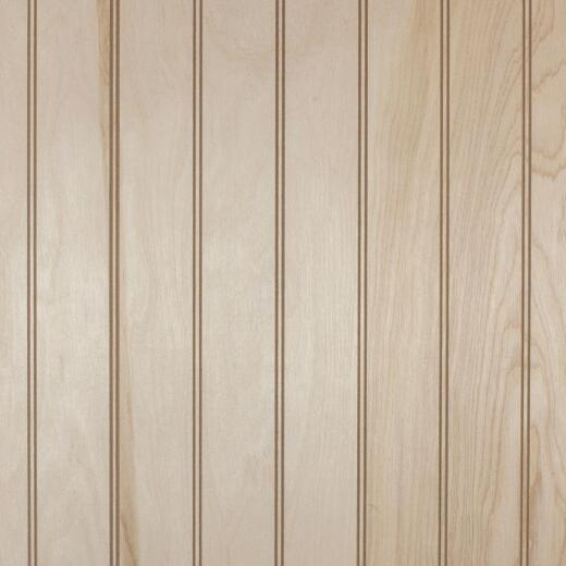 Global Product Sourcing 4 Ft. x 8 Ft. x 1/4 In. Barrington Birch Beaded Classic Wood Veneer Wall Paneling
