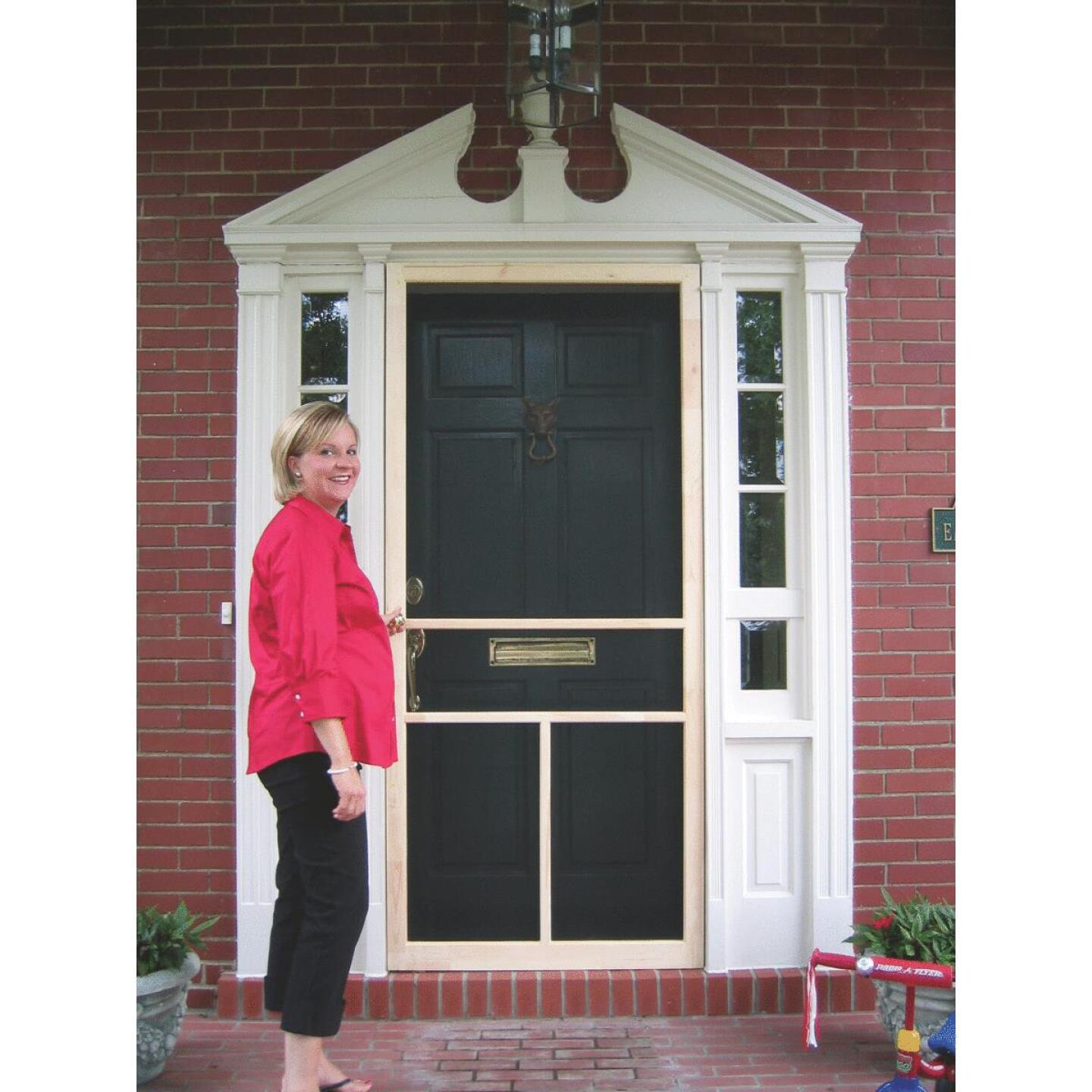 Snavely Kimberly Bay 36 In. W. x 80 In. H. x 1 In. Thick Natural Fingerjoint Pine Wood T-Bar Screen Door Image 2