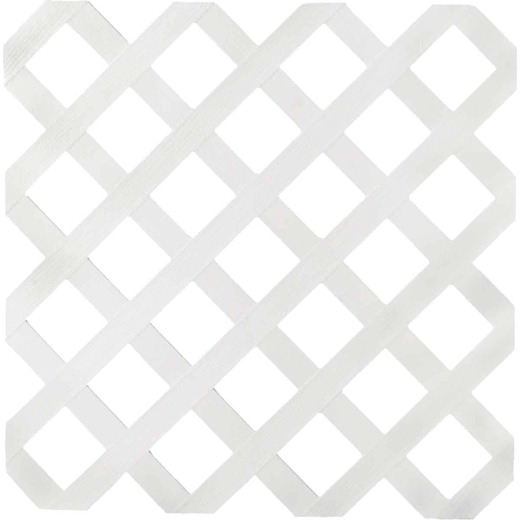 Dimensions 4 Ft. W x 8 Ft. L x 1/8 In. Thick White Vinyl Lattice Panel