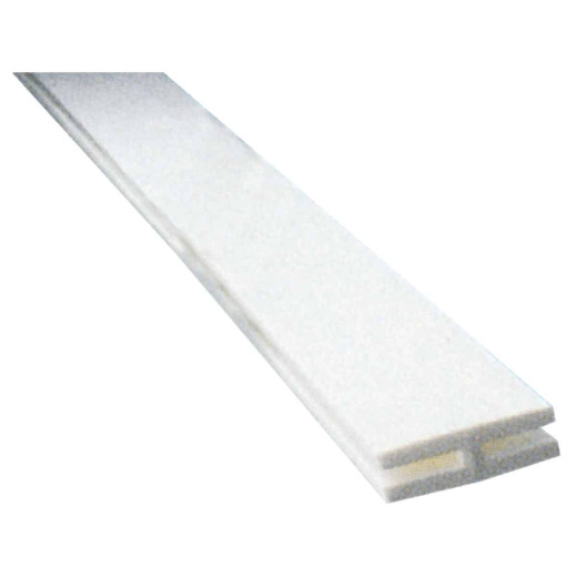 Dimensions 2-1/8 In W x 95-1/2 In L x 3/4 D White Vinyl Panel H-Divider