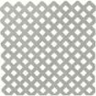 Dimensions 4 Ft. W x 8 Ft. L x 3/16 In. Thick Gray Vinyl Privacy Lattice Panel Image 1