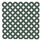 Dimensions 4 Ft. W x 8 Ft. L x 3/16 In. Thick Dark Green Vinyl Privacy Lattice Panel Image 1