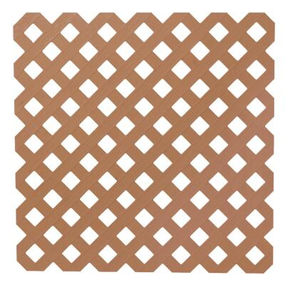 Dimensions 4 Ft. W x 8 Ft. L x 3/16 In. Thick Redwood Vinyl Privacy Lattice Panel