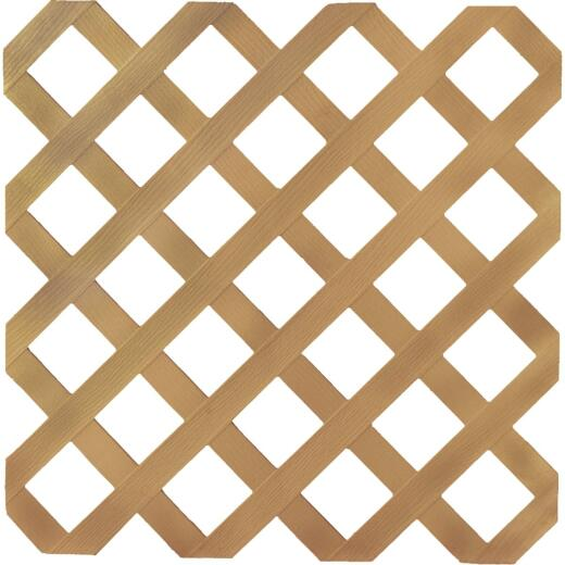 Dimensions 4 Ft. W x 8 Ft. L x 1/8 In. Thick Cedar Colored Vinyl Lattice Panel