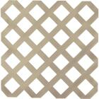 Dimensions 4 Ft. W x 8 Ft. L x 1/8 In. Thick Brownstone Vinyl Lattice Panel Image 1
