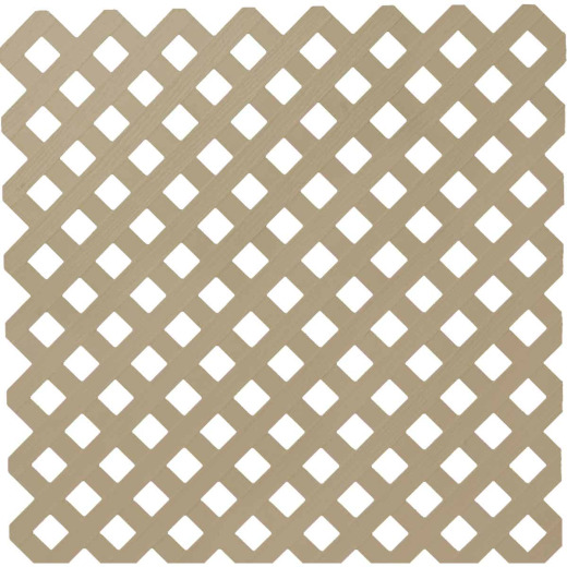 Dimensions 4 Ft. W x 8 Ft. L x 3/16 In. Thick Brownstone Vinyl Privacy Lattice Panel
