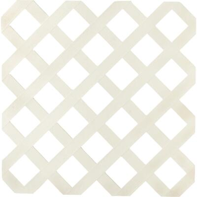 Dimensions 4 Ft. W x 8 Ft. L x 1/8 In. Thick Almond Vinyl Lattice Panel