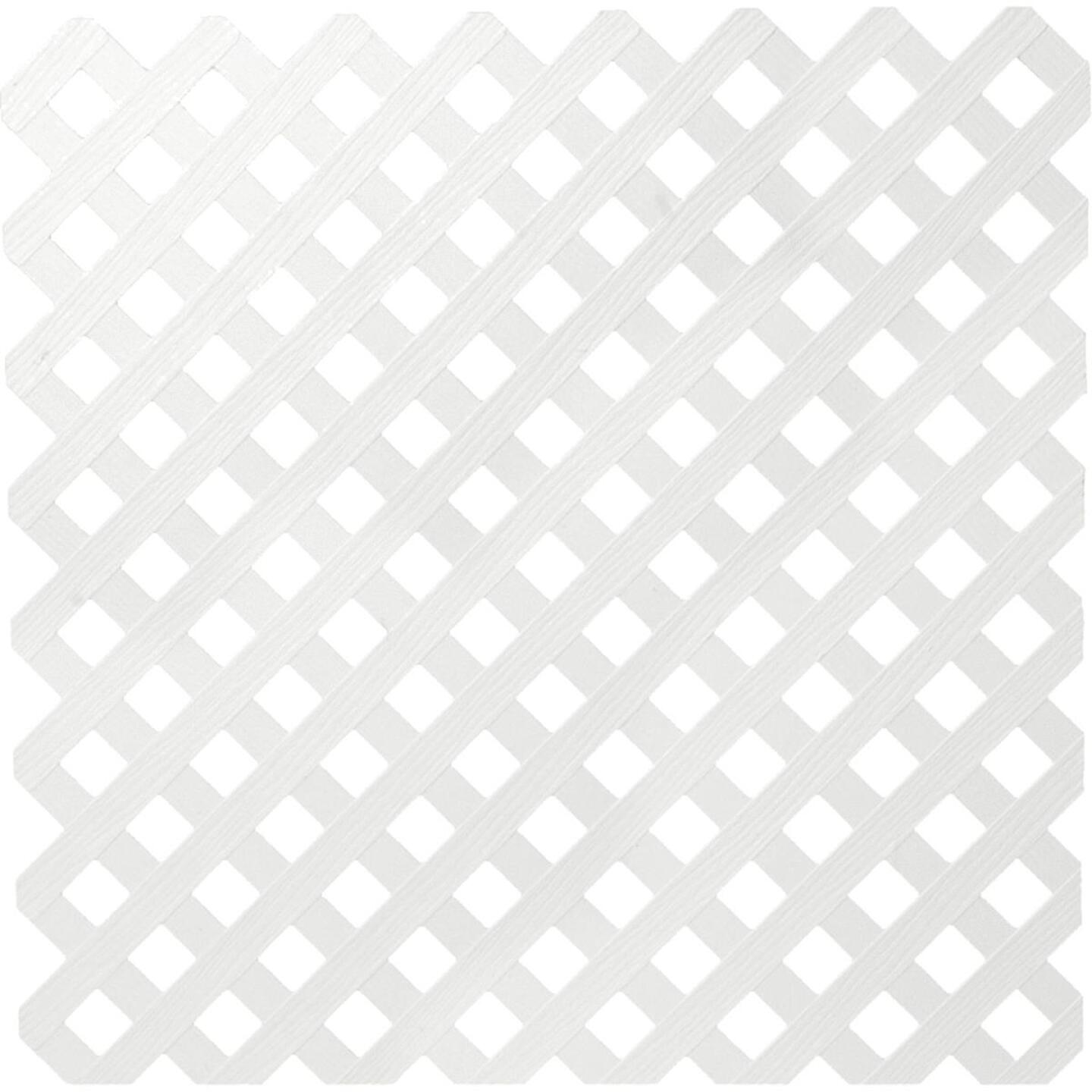 Dimensions 4 Ft. W x 8 Ft. L x 3/16 In. Thick White Vinyl Privacy Lattice Panel Image 1