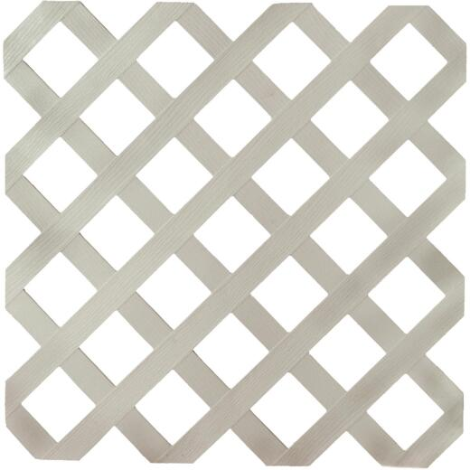 Dimensions 4 Ft. W x 8 Ft. L x 1/8 In. Thick Gray Vinyl Lattice Panel