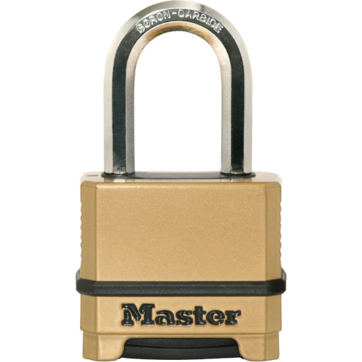 Master Lock Magnum 2 In. Steel Gold & Black Combination Padlock with 1-1/2 In. Shackle