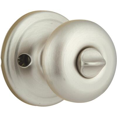 Kwikset Signature Series Satin Nickel Bed & Bath Door Knob