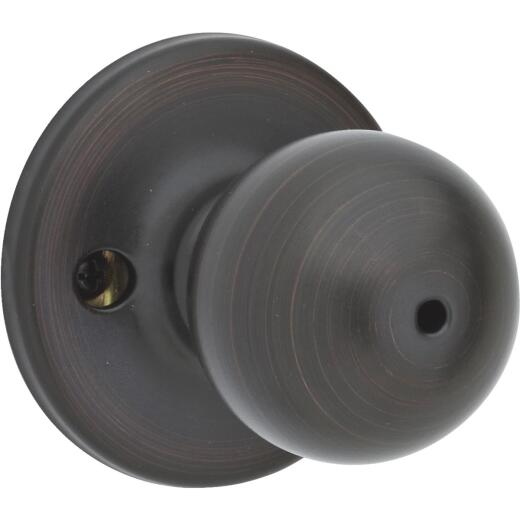 Kwikset Polo Venetian Bronze Bed & Bath Door Knob