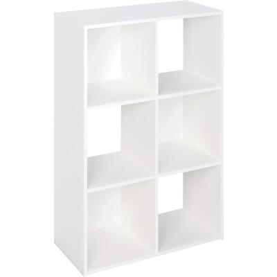ClosetMaid Cubeicals White 6-Cube Storage Stacker Organizer