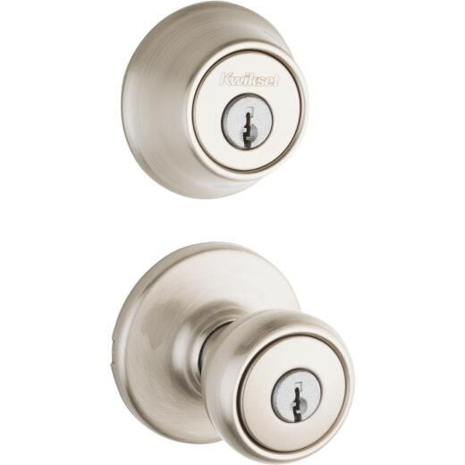 Kwikset Satin Nickel Deadbolt and Door Knob Combo