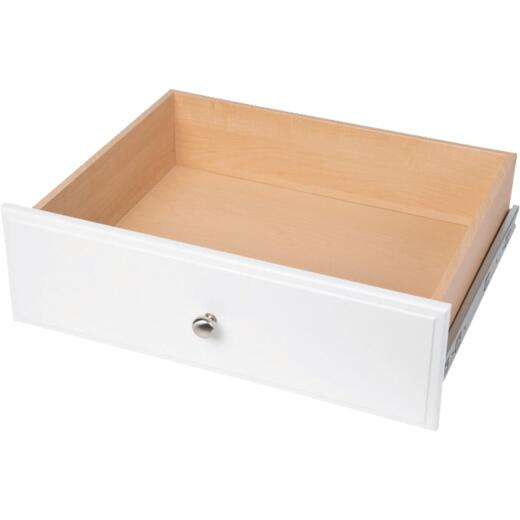 Easy Track 8 In. White Hutch Drawer
