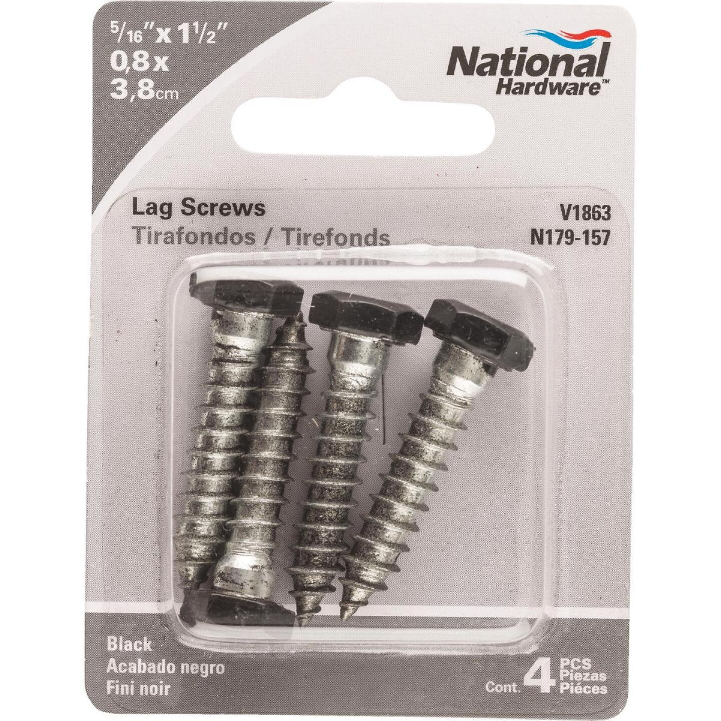 National 5/16 In. x 1-1/2 In. Black Hex Lag Bolt (4 Ct.) Image 2