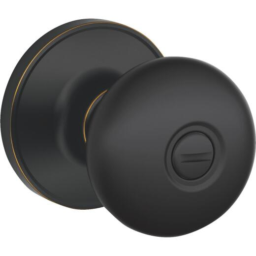 Dexter Stratus Aged Bronze Privacy Door Knob