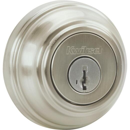 Kwikset Signature Series Satin Nickel Single Cylinder Deadbolt