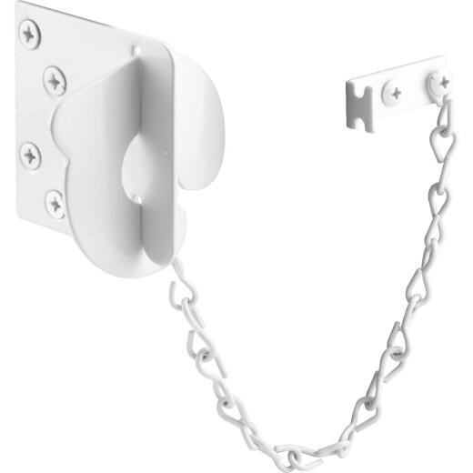 Defender Security White Texas Security Bolt Ring Chain Door Lock