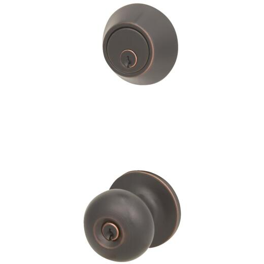 Steel Pro Oil Rubbed Bronze Deadbolt and Door Knob Combo