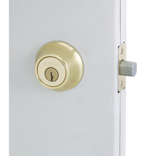 Kwikset Polished Brass Single Cylinder Deadbolt