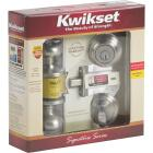 Kwikset Signature Series Satin Nickel Deadbolt and Door Knob Combo Image 2