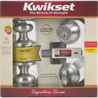 Kwikset Signature Series Satin Nickel Deadbolt and Door Knob Combo Image 3