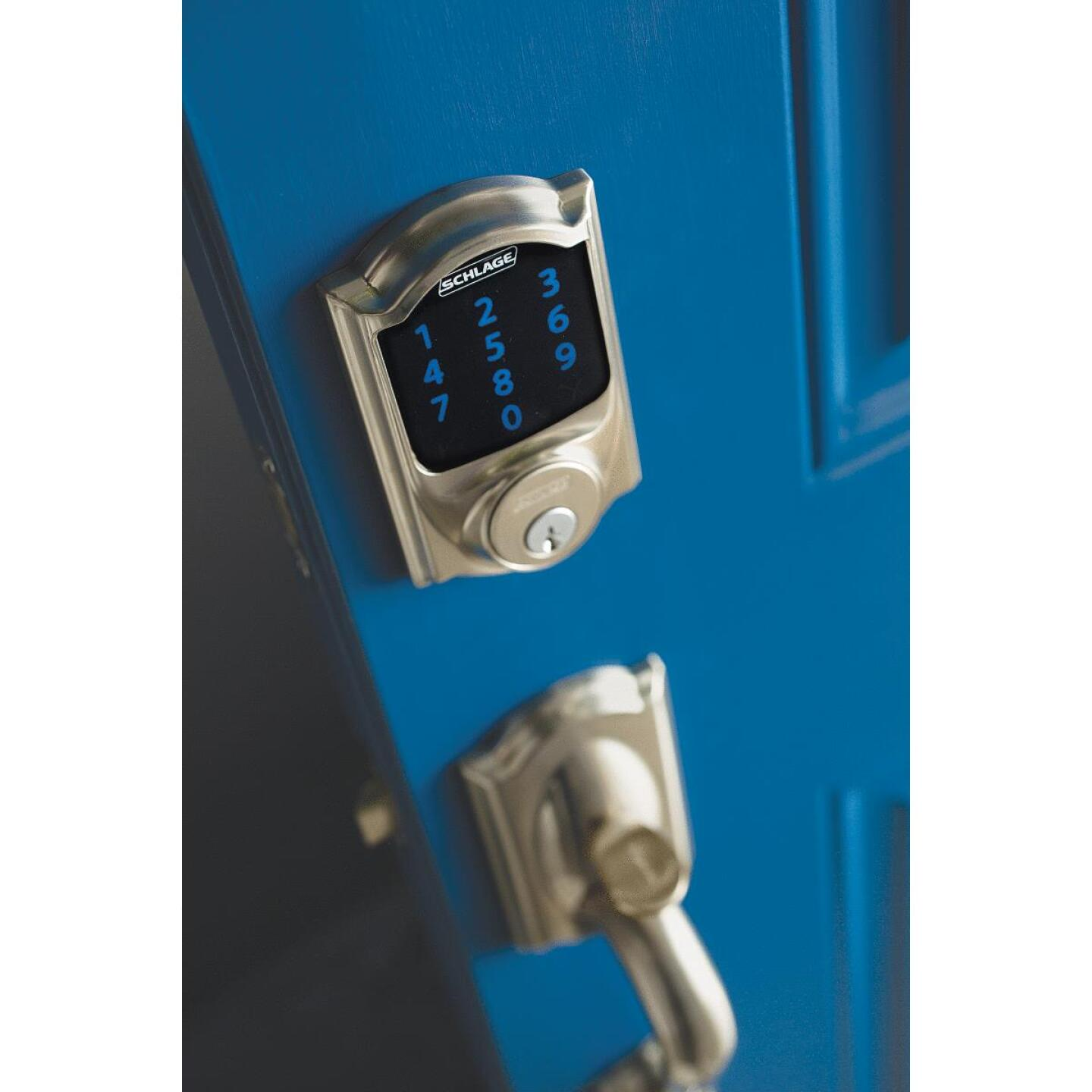 Schlage Connect Touchscreen Satin Nickel Electronic Deadbolt Image 2