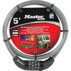 Master Lock 5 Ft. x 3/8 In. Resettable Combination Cable Lock Image 2
