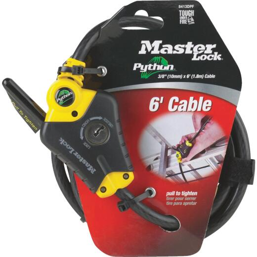 Master Lock Python 6 Ft. x 3/8 In. Adjustable Locking Cable