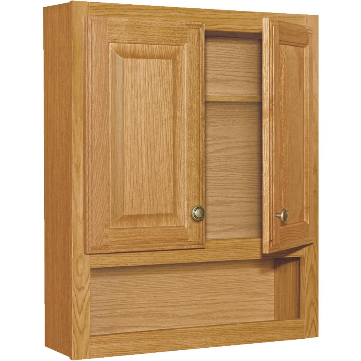 Continental Cabinets Modular Honey Oak Finish 23-1/4 In. W. x 28 In. H. x 7-1/4 In. D. Wood Wall Bath Cabinet Image 2