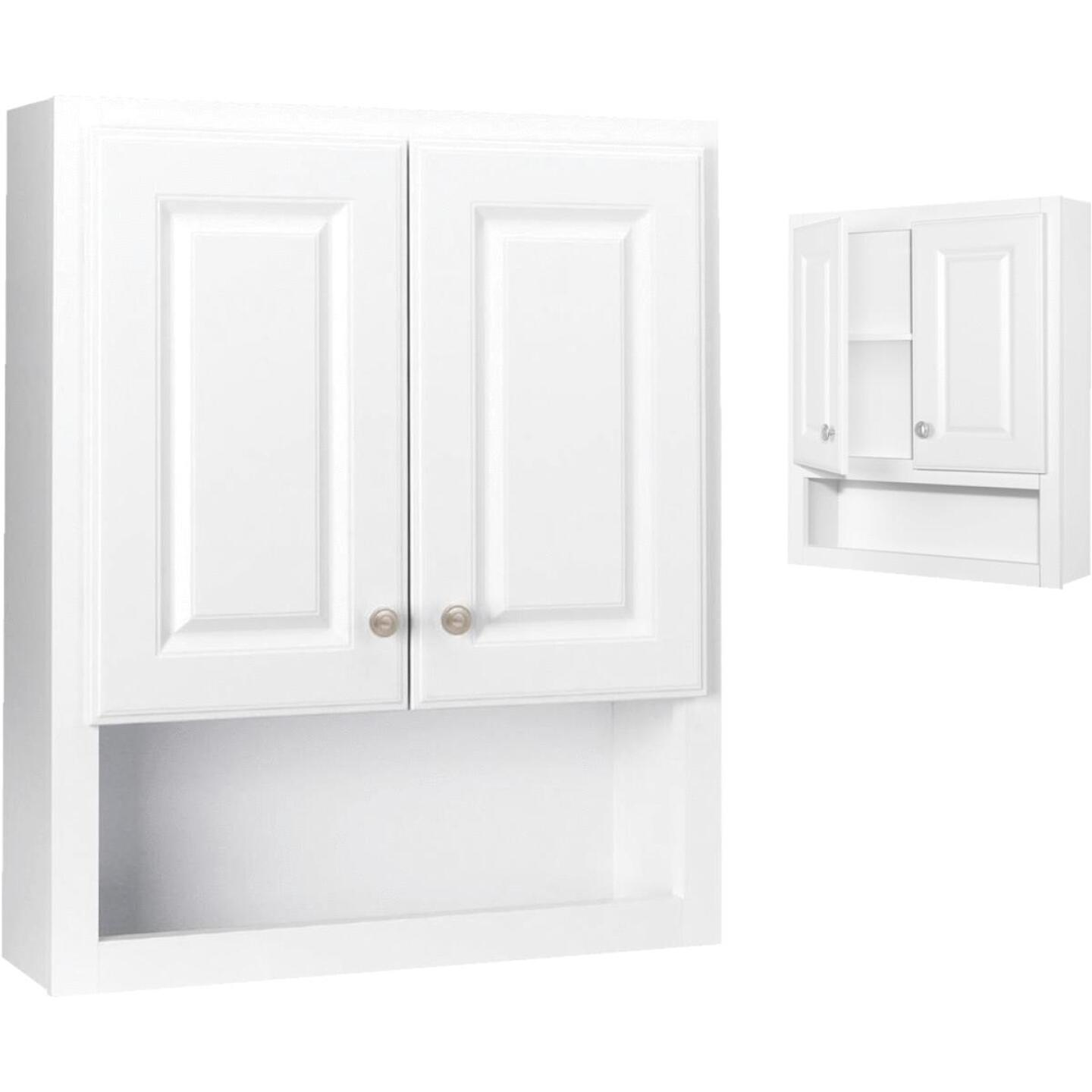 Continental Cabinets Modular Semi-Gloss White Finish 23-1/4 In. W. x 28 In. H. x 7-1/4 In. D. Wood Wall Bath Cabinet Image 1
