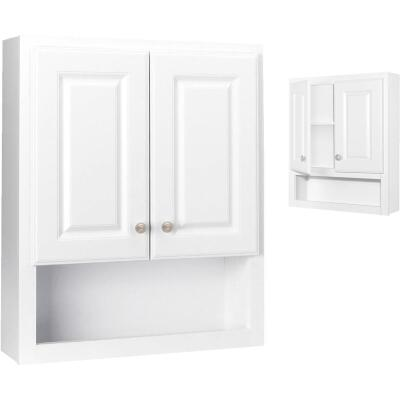 Continental Cabinets Modular Semi-Gloss White Finish 23-1/4 In. W. x 28 In. H. x 7-1/4 In. D. Wood Wall Bath Cabinet