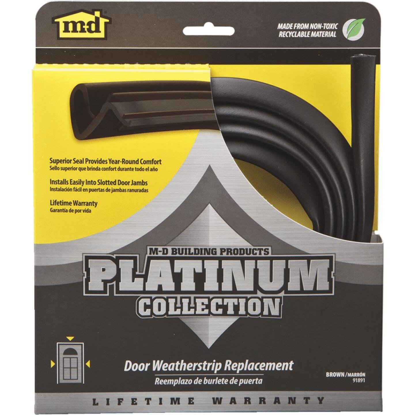 "M-D 84"" Brown Door Jambs Weatherstrip Replacement Image 1"